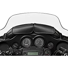 Willie & Max By Dowco - Two Pouch Motorcycle Windshield Bag - UV Protection - Maintenance Free Synthetic Leather - Black - Cruiser - 1 Year Limited Warranty - Up To 5L Capacity [ 04725 ]