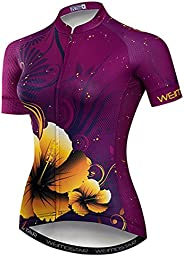 Weimostar Women's Cycling Jersey Short Sleeve Ladies Bike Shirts Bicycle Clot