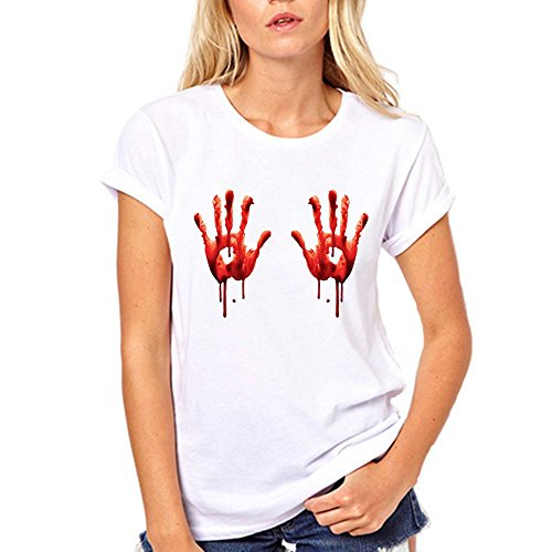GullPrint Blood Hands Halloween T Shirt Medium Black]()