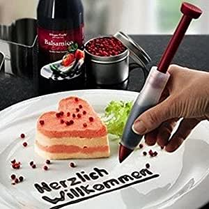 New Silicone Plate Pen Cake Cookie Pastry Cream Chocolate Decorating Syringe