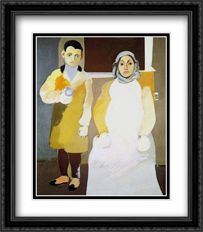 Artist and His Mother 2X Matted 24x32 Large Black Ornate Framed Art Print by Arshile Gorky (Arshile Gorky The Artist And His Mother)