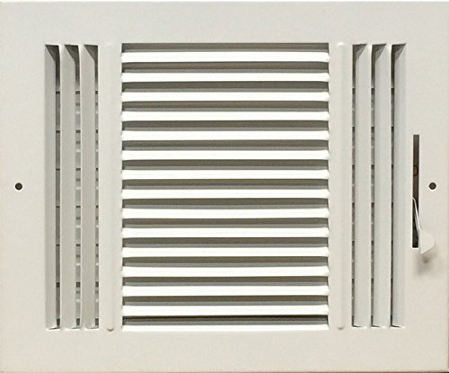 HBW 10x 8 (Duct Opening Size) 3-Way Stamped Face Steel Ceiling/sidewall Air Supply Register - Vent Cover - Actual Outside Dimension 11.75 X 9.75