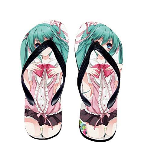 Bromeo Hatsune Miku Anime Unisex Flip Flops Chanclas 158