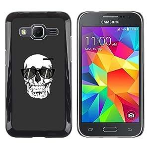 Be Good Phone Accessory // Dura Cáscara cubierta Protectora Caso Carcasa Funda de Protección para Samsung Galaxy Core Prime SM-G360 // Sunglasses Death Art Painting