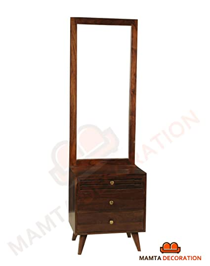 Mamta Decoration Sheesham Wood Dressing Table With Mirror And 3 ...