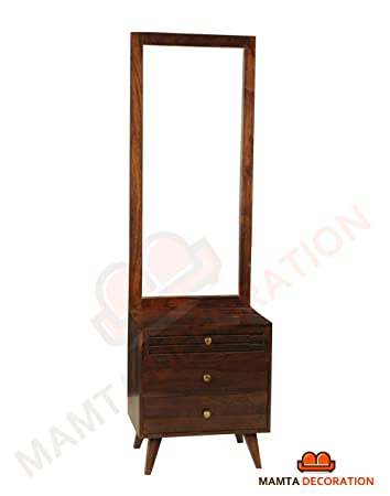 Mamta Decoration Sheesham Wood Dressing Table With Mirror And 3