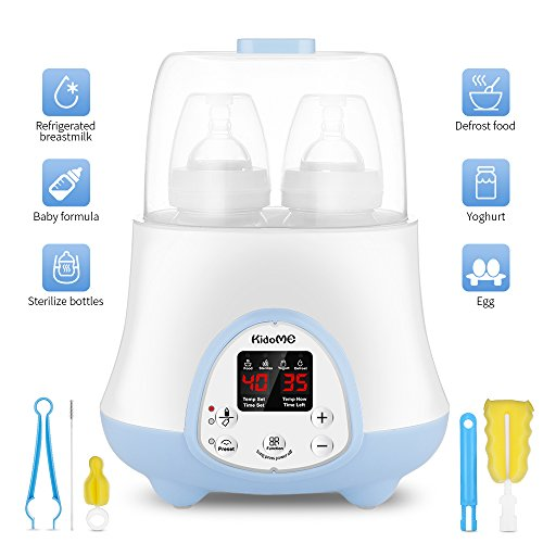 Baby Bottle Warmer, Bottle Sterilizer 6-in-1 with Milk, Formula Warmer, Baby Food Heater, Intelligent LED Display, Reservation Function and Accurate Temperature Control, Suitable for Most of Bottle