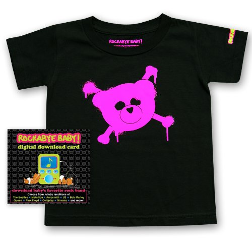 Rockabye Baby! Digital Download Card Gift Package + Rockabye Baby 100% Organic Cotton Toddler T-Shirt (Pink)