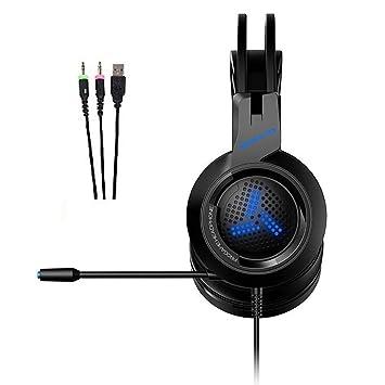 Mzq-yq 7.1 Auriculares con Sonido Envolvente Virtual, Juego de ...