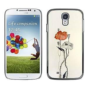 TopCaseStore / la caja del caucho duro de la cubierta de protección de la piel - Paper Watercolor Art - Samsung Galaxy S4 I9500