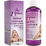 Gentle Baby Wash & Shampoo for Babies + Children - Mild Kid's Shampoo - Pure Lavender Essential Oil - Nourishing Dry Scalp Treatment - Hypoallergenic - Sulfate Free - Paraben Free - Cruelty Free