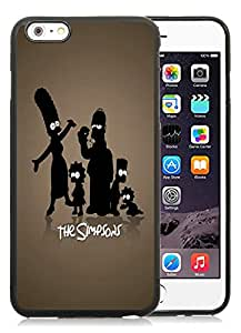 Fashionable And Unique Designed With The Simpsons Silhouettes Cover Case For iPhone 6 Plus 5.5 Inch Black Phone Case CR-631