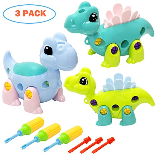 INNOCHEER Dinosaur Take Apart Toys with Tools, Stem Learning Set, Birthday for Boys, Girls Age 3 Years and Up