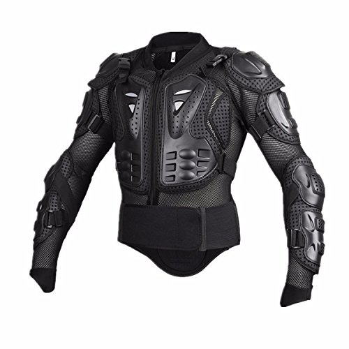 Motorcycle Full Body Armor Protective Jacket Guard ATV Motocross Gear Shirt Black Size M For KTM Super Enduro Supermoto Cross Country (Supermoto Jacket)