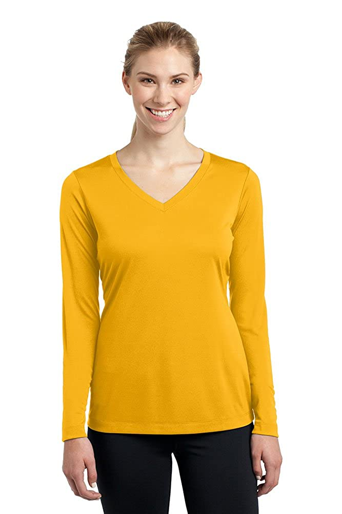 gold DriWick Women's Sport Performance Moisture Wicking Athletic Long Sleeve Shirt