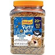 Purina Friskies Party Mix Beachside Crunch Adult Cat Treats - 20 oz. Canister