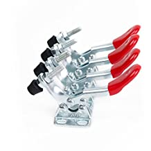 E-TING 4 Pcs New Red Toggle Clamp GH-201A 201-A Horizontal Clamp Quick Release Hand Tool