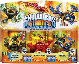Skylanders Giants Lightcore 3 Pack: Prism Break, Eruptor, Drobot