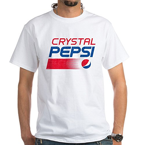 CafePress Crystal Pepsi Vintage White T-Shirt - 100% Cotton T-Shirt, White ()