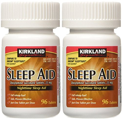 Kirkland Signature Sleep Aid Doxylamine Succinate 25 Mg 2 Bottles X 96 ()