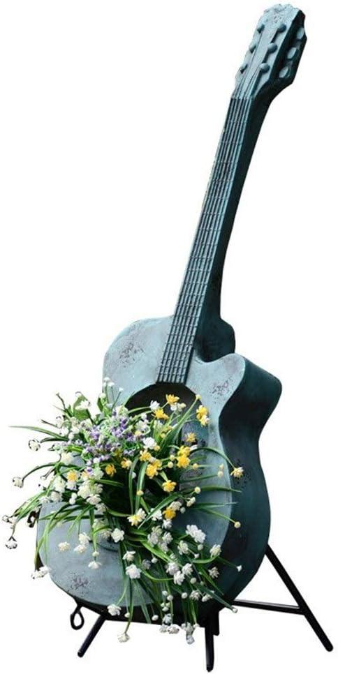 Wuzhengzhijia Retro Guitarra Tiesto, Patio Decoración del jardín ...