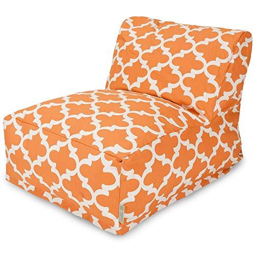 Majestic Home Goods Trellis Bean Bag Chair Lounger, Peach