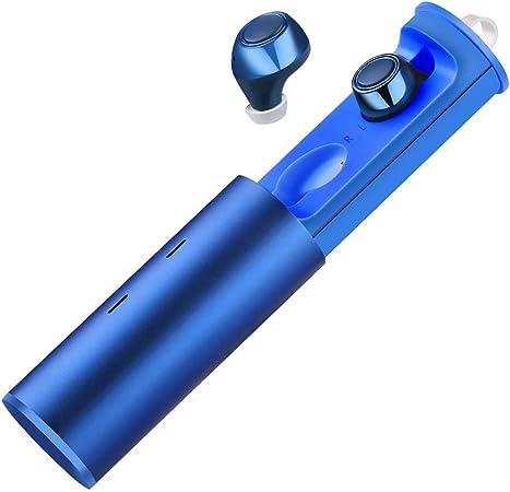 Bluetooth Kopfhörer Kabellos In Ear 10 Stunden Spielzeit Bluetooth Headsets 3d Stereo Sound Minikopfhörer Drahtlose Kopfhörermit Mikrofon Geeignet Für Ios Und Android Blau Musikinstrumente