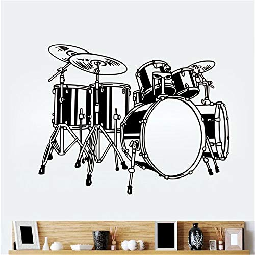 loneer Wall Sticker Lettering Quotes and Saying Drum Icon Room Rock Music Applique Home Decoration