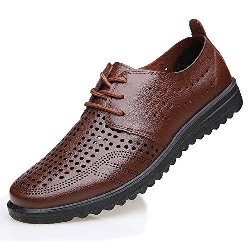 Cordones Antideslizante Sandalias Suela Ahuecadas Suela Rojo Zapatos con Respirable Hombres con para Uwp56