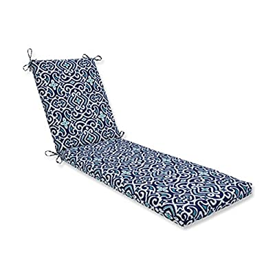 Pillow Perfect Outdoor/Indoor Carmody Navy Chaise Lounge Cushion