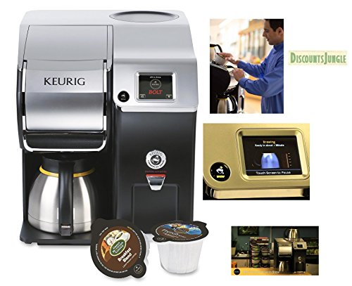 Keurig Bolt Coffee Maker And Coffee Machine Stainless Steel Office Commercial Brewing System And Personal Brewing System Works With Regular K-cups by Keurig