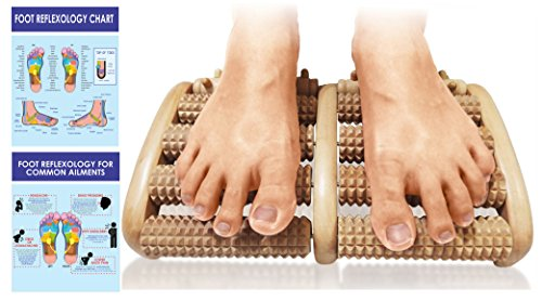 Foot Massager Roller - Made to Relief Your Feet, Heel, Foot Arch Pain & Stress - Chart Included