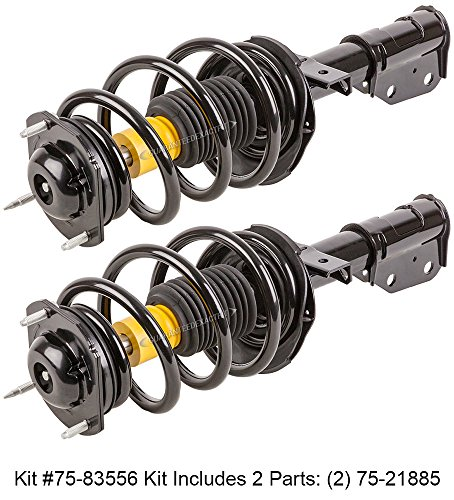 Front Shock Absorber Assembly (Pair Brand New Complete Front Left & Right Strut Shock Coil Spring Assembly - BuyAutoParts 75-835562C)