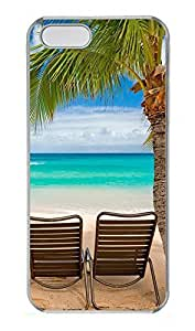 iPhone 5 5S Case Chilling at the beach PC Custom iPhone 5 5S Case Cover Transparent