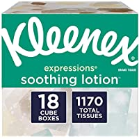18-Cube Boxes Of Kleenex Expressions Soothing Lotion Facial Tissues