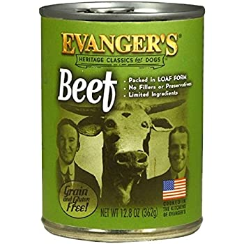 EVANGER'S Classic Beef Supplement for Dogs, 12 Pack, 13-Ounce Cans