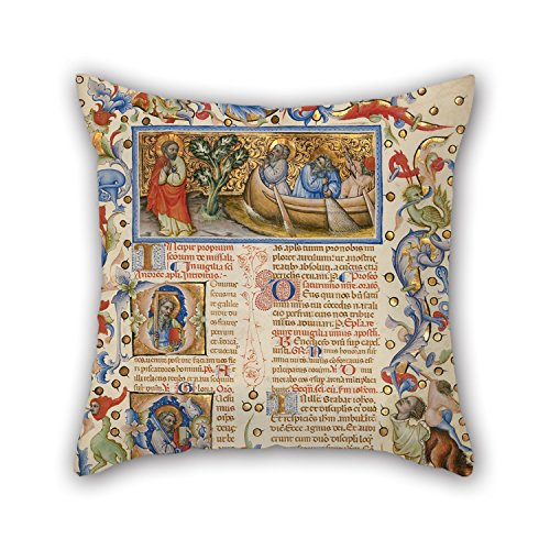 Alphadecor Oil Painting Master Of The Brussels Initials (Italian, Active About 1389 - 1410) - Missal Cushion Cases 16 X 16 Inches / 40 By 40 Cm Best Choice For Home Office,teens (Tween Sweet Bee Costume)