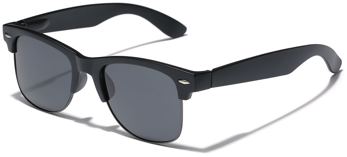 Polarized Half Frame Classic Retro Sunglasses by LEICO FASHION