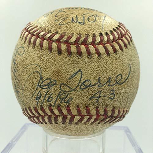 1996 NY Yankees Team Signed Game Used Baseball Derek Jeter Mariano Rivera - JSA Certified - MLB Autographed Game Used Baseballs