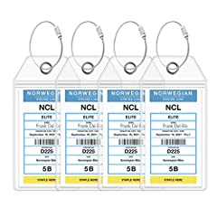"""Get your luggage to your cruise cabin quickly and in style with our cruise luggage tags. Don't be """"that person"""" shopping for bathing suits in the cruise ship promenade because your bags never showed up! Secure those tags beforehand and head t..."""