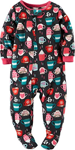 84a640cb7d Carters Baby Girls Fleece Hot Cocoa Sleep   Play 18 Month Black pink