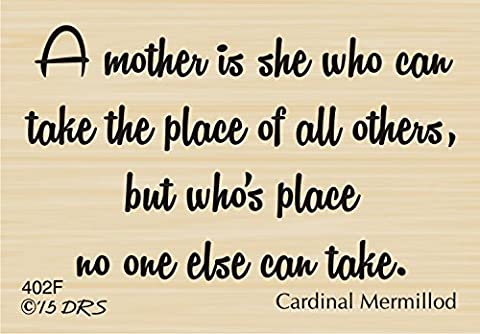 Mermillod Mother's Greeting Rubber Stamp By DRS Designs - Products Rubber Stamp