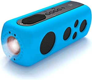 Sound Box Splash Sports Portable Speaker - Wireless Rugged Waterproof Bluetooth Compatible audio Stereo with AUX In Jack, Rechargeable Battery - iPhone, Android, iPad, MP3 - PyleSport PWPBT75BL (Blue)