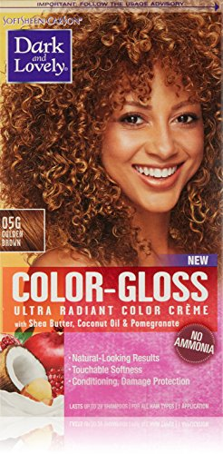 SoftSheen-Carson Dark and Lovely Color-Gloss Ultra Radiant Color Crème, Golden Brown 05G