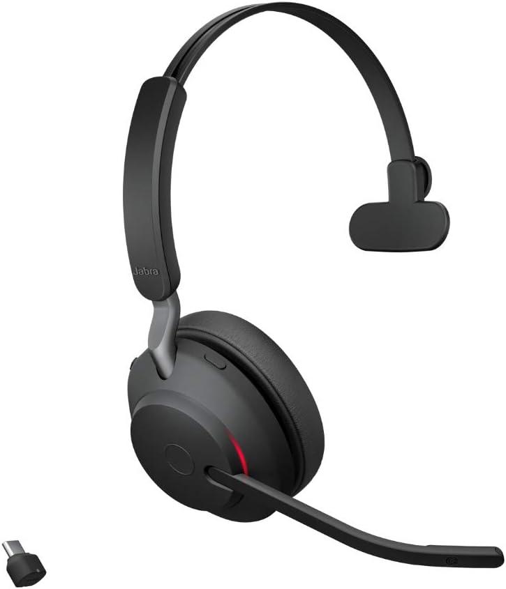 Jabra Evolve2 65 Wireless Headset Noise Cancelling Headphones Elektronik