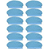 Monland 12Pcs Mop Cloth Pads Set for Deebot Ozmo 920 950 Vacuum Cleaner Parts Replacement Home Accessories