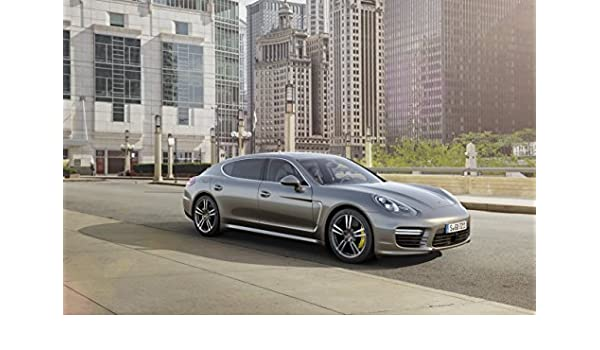 Amazon.com: Porsche Panamera Turbo S Executive (2014) Car Art Poster Print on 10 mil Archival Satin Paper Silver Front Side Static View 16