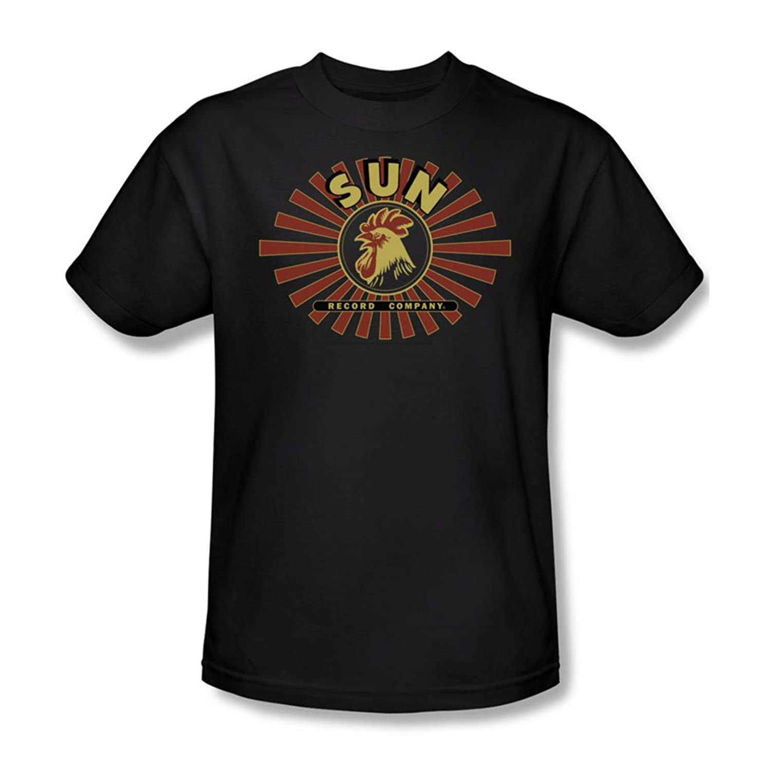 Sun Records - Sun Ray Rooster Adult T-Shirt In Black