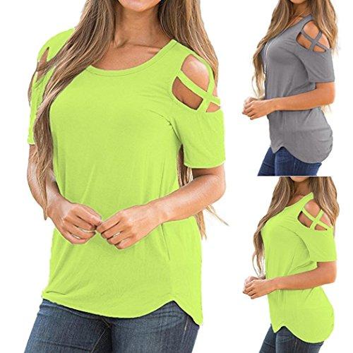 Abbigliamento Hot Donna Donna Corta Grossa Moda T Da Maglietta Camicetta Sale Oyedens Manica Canottiera Verde Cerniera Shirt Estate Casual Taglia Top ftOU0fwxq4