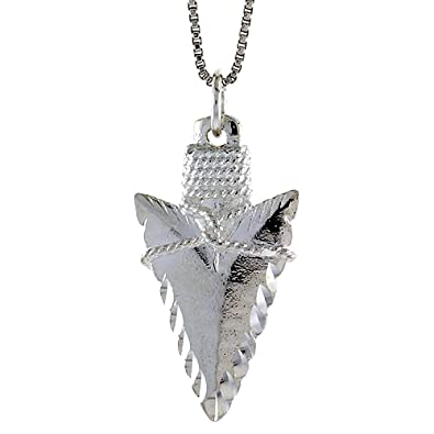 Amazon sterling silver arrowhead pendant 1 14 inch tall sterling silver arrowhead pendant 1 14 inch tall aloadofball Image collections